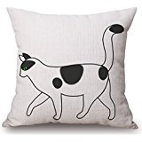 18 x 18 inches / 45 by 45 cm cat throw pillow case,two sides is fit for kitchen,teens,her,teens boys,play (Hot Pictures For Bedroom)