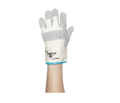 Honeywell Jumbo Premium Grade Leather Palm Gloves With Safety Cuff, Gunn Cut Double-Lock Kevlar® Stitched And Seamless Knit Liner