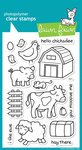 Lawn Fawn Clear Stamps - Critters On The Farm (Acrylic Fawn Stamps Lawn)