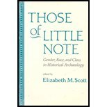 Those of Little Note : Gender, Race, and Class in Historical Archaeology, Scott, 0816514992