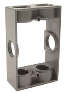 Hubbell-Raco 5405-0 Weatherproof Box Extension, 1-Gang, Depth: 1-1/2