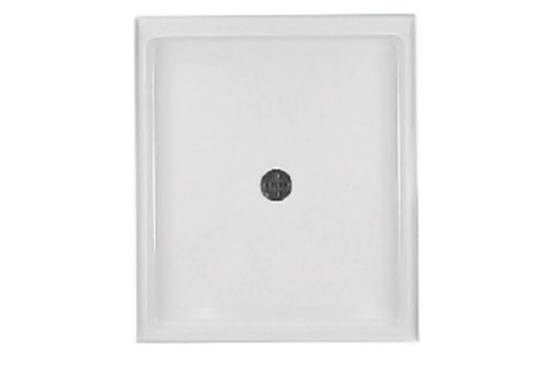 Swanstone SS-4242-010 42-Inch by 42-Inch by 5-1/2-Inch Single Threshold Shower Floor, White Finish