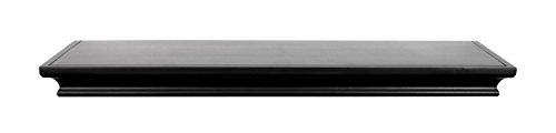 MCS Traditional Style Deep, 24 inches Long, Black Finish Wall Shelf Ledge,