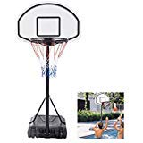 Pool Basketball Hoop Goal Net Games Sports Backboard Poolside Swimming Water - Ring Height: 0.9m to 1.2m by Unknown