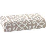 Loftex USA LLC Thick and Plush Jacquard Bath CollectionBath Sheet, Taupe Splash/Arctic White by Loftex USA LLC