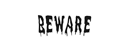 Moira Halloween Door Decal Beware Decal Drip Font