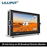 Lilliput 28'' 3840x2160 Broadcast Monitor 3G SDI 4K Ultra HD Monitor SDI HDMI TALLY Director Monitor for Camera by Lilliput