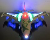 WolVol Bump & Go Action Electric F16 Military Fighter Jet Aircraft Airplane Toy with Lights and Sounds (Electric Fighter Jet)