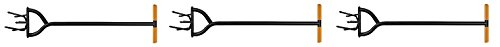 Fiskars 79906935J, 40 Inch Long Handle Steel Tiller (3-(Pack))