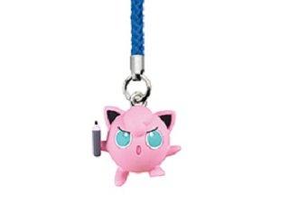 Takara Tomy Pokemon Netsuke Sun Moon 2 Cell Phone Strap~purin jigglypuff~Size 23mm (Jigglypuff Figure)