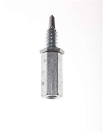 Platinum Tools JH951-100 1/4-20 Male Coupler with 3/4-Inch Self Drill Metal Screw, 100 Per Box by Platinum Tools