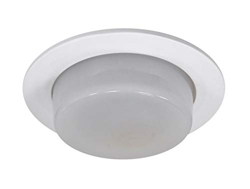 NICOR Lighting 4-Inch Drop Oval Shower Trim, White (19510WH) ()