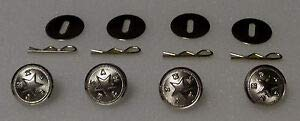 4 Texas State Star Silver Uniform Buttons Small Pins/Washers TX Police/fire/EMS by HighQ Store