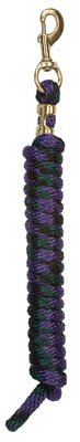 Bolt Lead Snap Poly - Weaver Multi-Color Poly Lead Rope w/Bolt Snap Purp