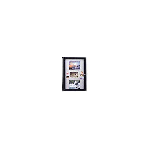 An Item of Ghent Ovation Gray Fabric Bulletin Board, 1-Door, 34