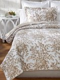 Laura Ashley Bedford Cotton Reversible Quilt, Full/Queen, Mocha