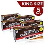 Shargio King Size Red Filter Tubes Comes with a Great Taste and Wonderful Flavor, 200 Count in Total - Pack of 5