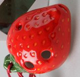 Strawberry 4 Holes Novelty Pendant Ceramic