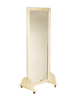 "Glass Mirror, Mobile Caster Base - Horizontal, 28"" W X 75"" H - 19-1102 - See Product Specifications for more detailed information. - mirrors-bedroom-decor, bedroom-decor, bedroom - 21IZ9tDg 5L -"