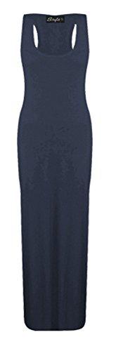 Glossy Look - Vestido - Básico - Sin mangas - para mujer azul marino