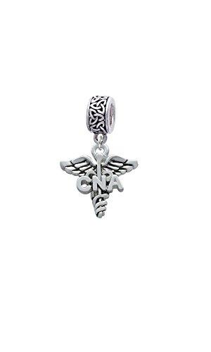 Delight Jewelry Nurse Caduceus - Celtic Knot Charm Bead