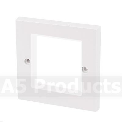 White - Modular Data Grid Outlet Faceplate - Cut Hole 50 x 50 mm OPW2G