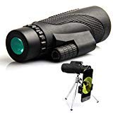 Monocular Telescope, 40x60 High Powered Monocular with Smartphone (Black) by PETACT-A