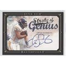 Owen Schmitt (Football Card) 2008 Upper Deck Masterpieces - Stroke of Genius - Black Framed #SOG76