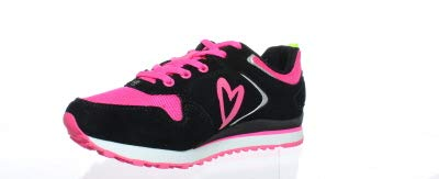 Zumba Athletic Footwear Women's Dance Workout Sneakers Running Shoe, Black/Pink, 5