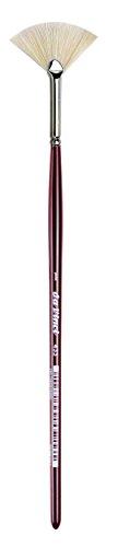 da Vinci Varnish & Priming Series 433 Fan Blender Brush, Extra Short Hog Bristle with Maroon Handle, Size 1