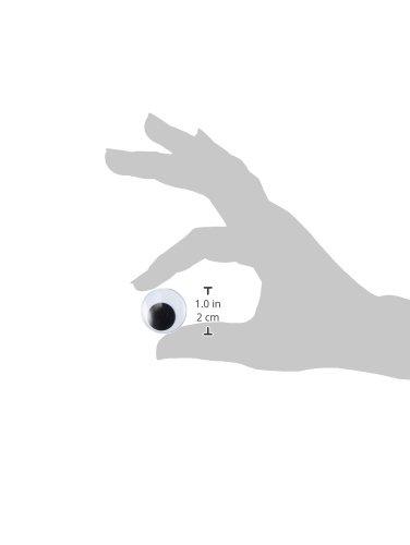 Darice Paste On Wiggle Eyes 25mm 2//Pkg-Black