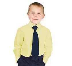 French Toast Uniforms Boys' Long Sleeve Dress Shirt (Yellow 18)