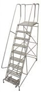 product image for Cotterman 1509R2632A2E20B4W4C1P6 - Rolling Ladder 120 in H 450 lb. Rubber