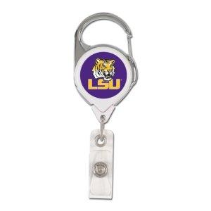 WinCraft NCAA LSU Tigers Retractable Premium Badge Holder, Team Color, One ()