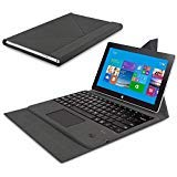 Surface Pro 4/Pro 3 Keyboard Cover - Janvvoo Bluetooth Keyboard Case Compatible with Surface Pro 3 / Pro 4/Pro 5/Pro 6 Tablet Keyboard with Ultra Slim Magnetic Protective Cover/Holder/Stand/Trackpad
