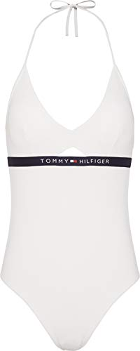 Tommy Hilfiger Cutout One Piece Womens Swimsuit Small Snow White