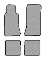 MERCEDES-BENZ 500-E Floor Mat set Carpet Custom Fit Replacement 4 pc set (2 pc fronts & 2 pc rears) Action backing & binded edges Gray Fits 1992-1993 Avery's Floor Mat 833-B