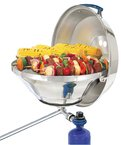 MAR. KETTLE GAS GRILL W/ HINGED LID PARTY SIZE