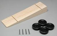 Wedge Kit: Wood Car Body, Wheels & Axles