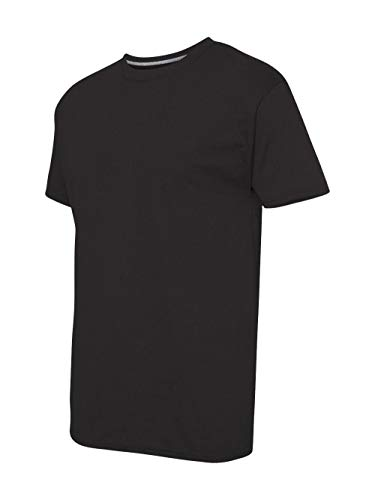 Layered Crewneck T-shirt - Hanes Men's X-Temp Crewneck Short-Sleeve T-Shirt (Large), Black