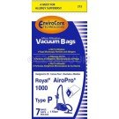 14 Royal Type P Allergy Vacuum Bags, Airpro Ry 1000, Canister Vacuum Cleaners, 3-RY1100-001