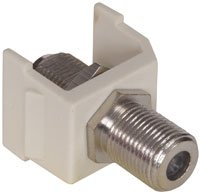 SFFX - Hubbell AV Connector, F-Type Coupler Bulkhead F/F, Office White, Pack of 2 ()