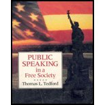 Public Speaking in a Free Society, Tedford, Thomas L., 0070633886