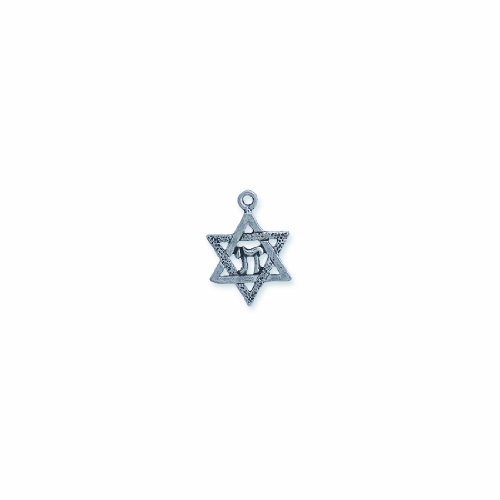 - Shipwreck Beads Pewter Star of David Charm, Metallic, Silver, 22mm, 6-Piece
