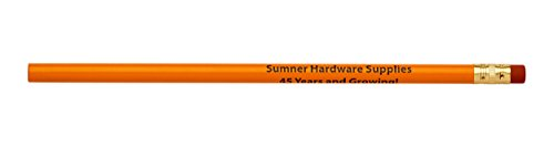Pencil Guy Promotional Personalized Imprinted Round Pencils 144 to a box. 19 color(s) to choose from!