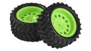 Spare Parts for Wheels Complete 2P Green 51C00-86017-Green or yellow Exceed-RC Magnet 1/16th Scale Electric RTR Remote Control Off-Road Mini Monster Truck (Exceed Rc Magnet)