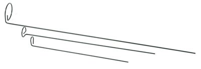Panacea Products 89325 18'' Green 1-1/4'' Single Loop Plant Support Stakes - Quantity 36 by Panacea