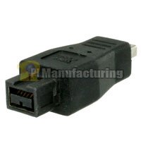 1394b Bilingual Firewire Adapter 9p Male to 4p Male by PIMFG (Image #1)