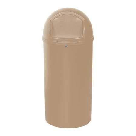 Domed Waste Receptacles, 25 Gallon, Beige