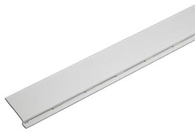 Amerimax 85320 PVC Solid Gutter Cover, 4', White (Pack of 12 pcs)